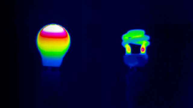 """light bulb comparison, thermography"" - incandescent bulb stock videos and b-roll footage"