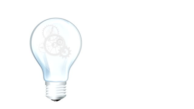light bulb gear hd - energy efficient lightbulb stock videos and b-roll footage