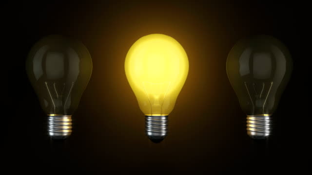 light bulb ideas success, integrate ideas for success. - ideas stock videos & royalty-free footage