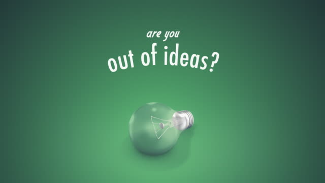 light bulb out of ideas text - question mark stock videos & royalty-free footage