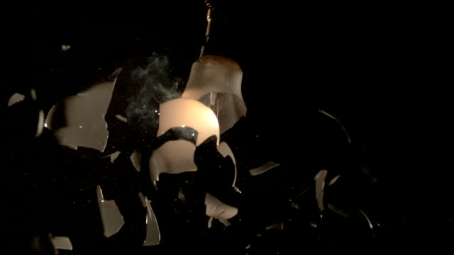 light bulb shattering, high-speed footage - part of stock videos & royalty-free footage