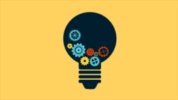 Light bulb with gears, Video Animation