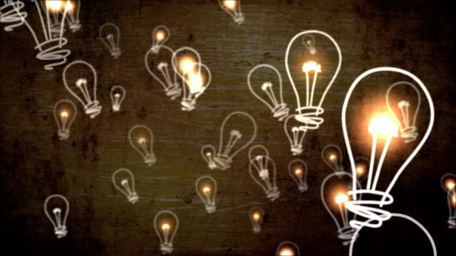 light bulbs flickering - ideas stock videos & royalty-free footage
