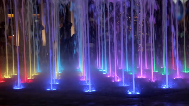 Light Colorful Fountain.