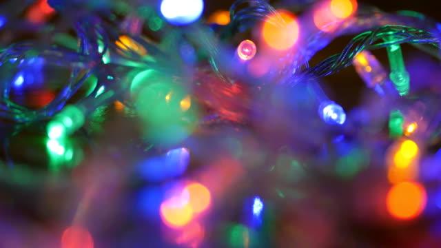 led licht dekoration - led leuchtmittel stock-videos und b-roll-filmmaterial