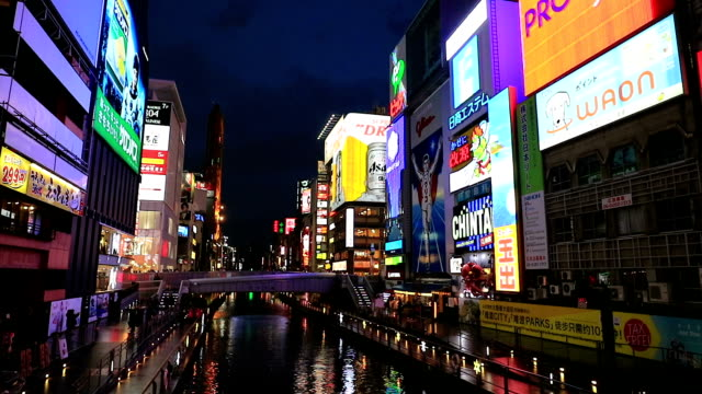 Light displays in Dontonbori Osaka