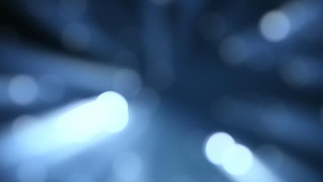 Light dots defocus, abstract animation.