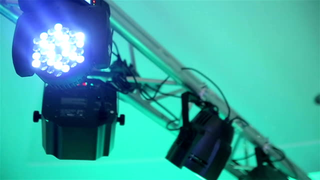 Light equipment on music stage