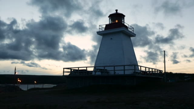 """light flashes in lighthouse, nova scotia, canada - """"bbc natural history"""" stock videos & royalty-free footage"""
