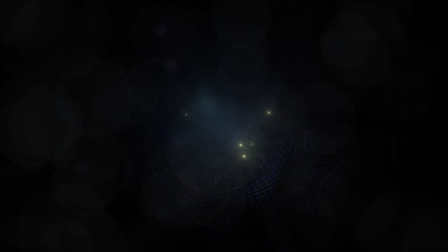 light force field tunnel on a grid with stars