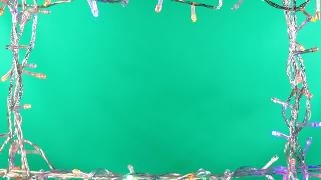 led light frame green screen background - christmas lights stock videos & royalty-free footage