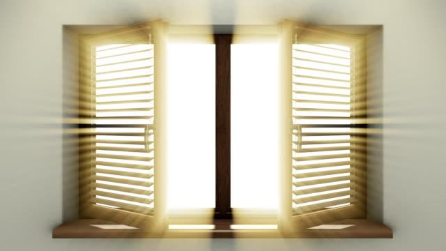 vídeos de stock, filmes e b-roll de a luz da janela - armação de janela