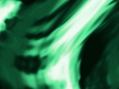 light green color warping over black background - kringel stock-videos und b-roll-filmmaterial
