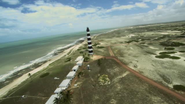 vídeos y material grabado en eventos de stock de light house/ farol da praia do calcanhar /rio grande do norte - praia
