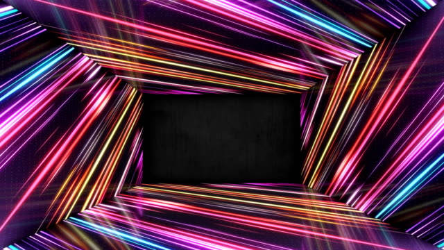 light led dance tunnel looped corridor. seamless image. - creative occupation stock videos & royalty-free footage