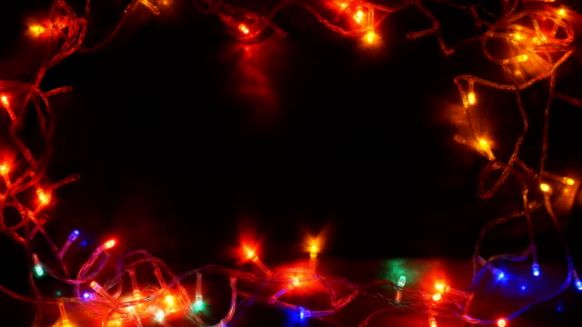 light led multi colored frame - christmas lights stock videos & royalty-free footage