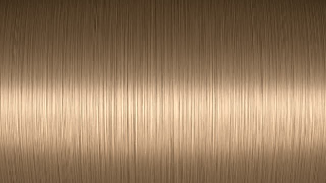 Light moving on a shiny blond hair