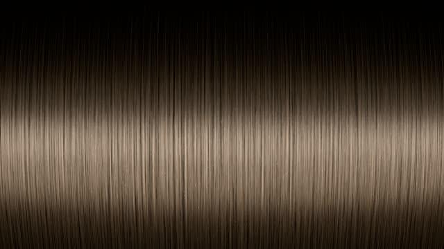 vídeos de stock, filmes e b-roll de luz movendo-se em um cabelo castanho brilhante - brown hair