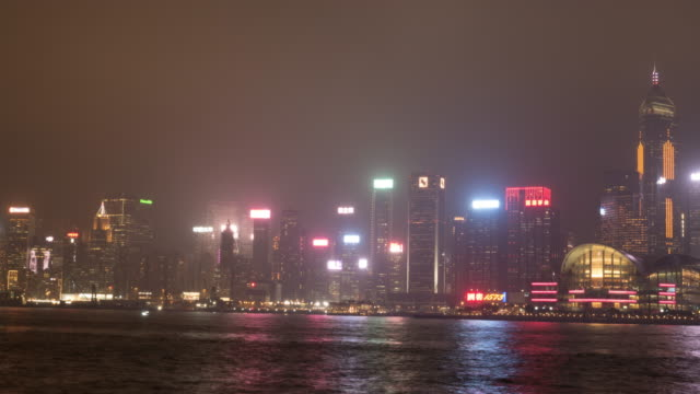 stockvideo's en b-roll-footage met 4k tl: licht van stadsgezicht in hong kong. - hong kong