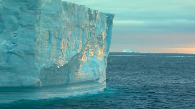 light on an iceberg - antarctica iceberg stock videos & royalty-free footage