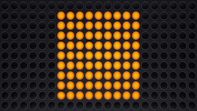 light panel in the form cube - moltiplicazione video stock e b–roll