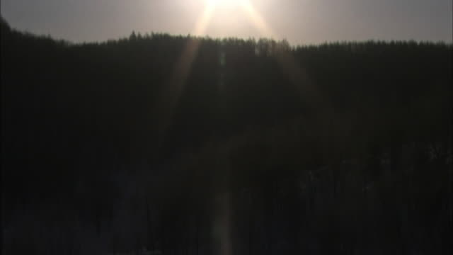 light pillar - the beautiful natural phenomenon. - light natural phenomenon stock videos & royalty-free footage
