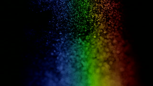 Light projected through water droplets reveals the beautiful visible spectrum.