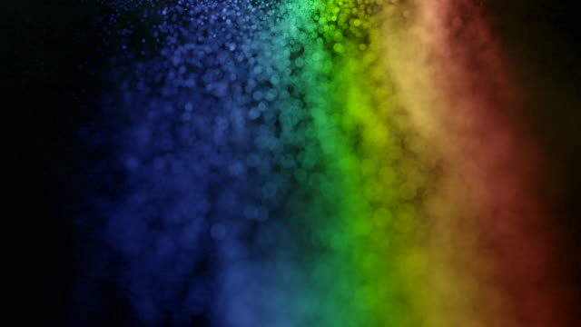 light projected through water droplets reveals the beautiful visible spectrum. - spectrum stock videos & royalty-free footage