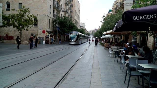 Light rail providing public transportation in the heart of Jerusalem
