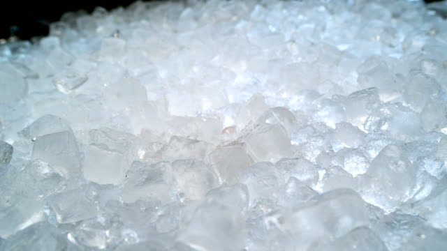 light reflecting in ice cubes. close up - large group of objects stock videos & royalty-free footage