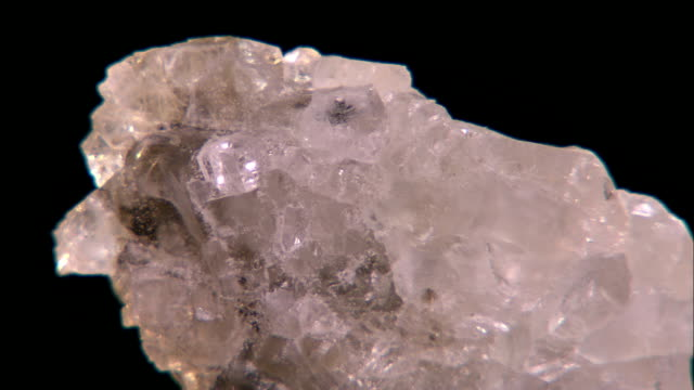 light reflects off several facets on a rotating chunk of salt. - mineral stock videos & royalty-free footage