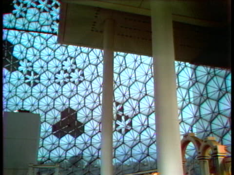 light shines through the montreal biosphere's steel and acrylic cells. - music or celebrities or fashion or film industry or film premiere or youth culture or novelty item or vacations stock videos & royalty-free footage