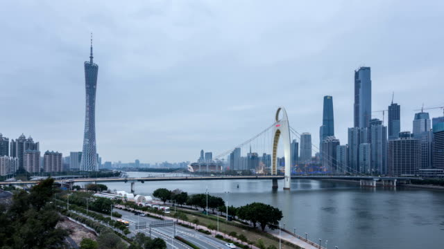 t/l ws td cbd light show day-to-night / guangzhou, china - guangzhou stock videos & royalty-free footage