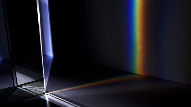 Light spectrum visible though a prism
