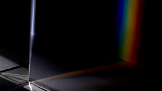 light spectrum visible though a prism - prism stock videos & royalty-free footage