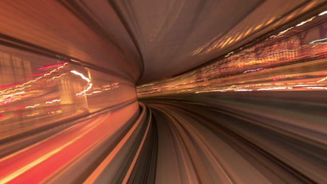 vídeos de stock e filmes b-roll de light speed to tunnel - cidade inteligente