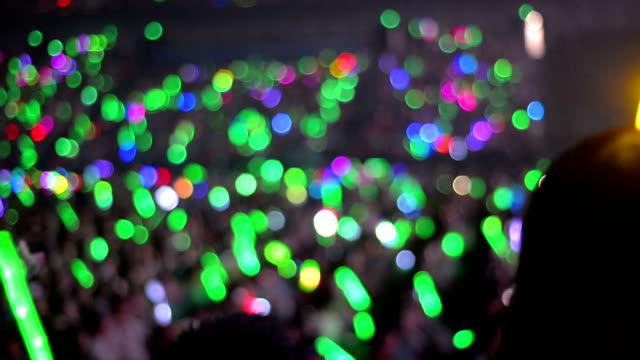 Light sticks concert crowd