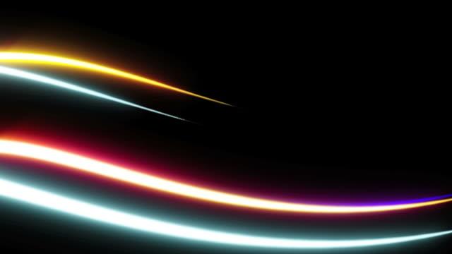 light streaks background loop - light trail stock videos & royalty-free footage