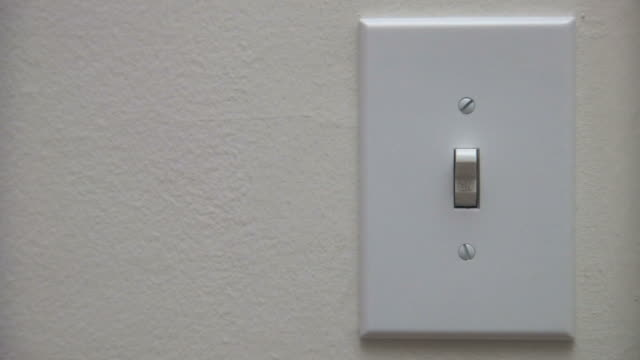 light switch - light switch stock videos & royalty-free footage