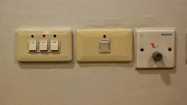 vídeos y material grabado en eventos de stock de interruptores de luz - haz de luz