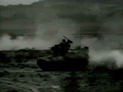 light tank m3's driving across north african desert field. armored warfare, tank, armor tank, north african campaign, north africa, - north africa stock videos & royalty-free footage