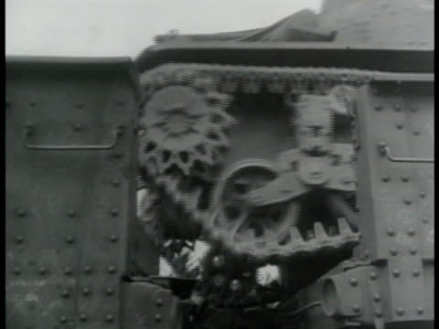 light tank moving up ramp ms tank treads moving over gap between metal ramp us soldiers walking motorcycles over short ramp la ms halftrack truck... - 1943 stock videos and b-roll footage