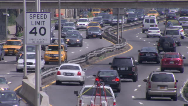 light traffic on a new york city highway - mid atlantic usa stock videos and b-roll footage