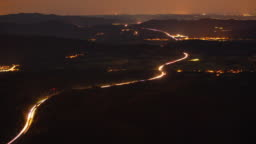 T/L Light trail on the highway