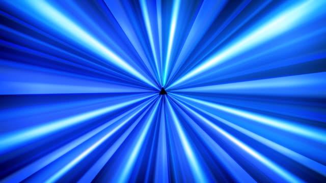 vidéos et rushes de tunnel de lumière bleu - triangle forme bidimensionnelle