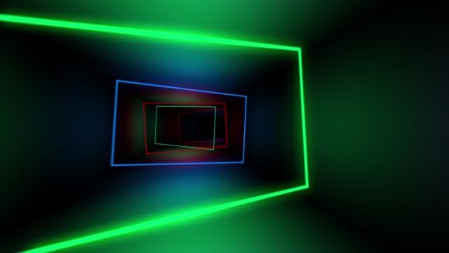 光のトンネル ループ - 灯台船点の映像素材/bロール