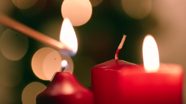 light up candles for christmas - christmas lights stock videos & royalty-free footage