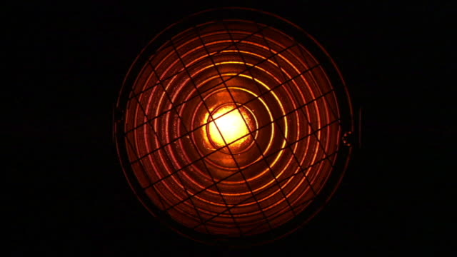 CU Light with metal grate across it coming on, then turning off/ Los Angeles, California