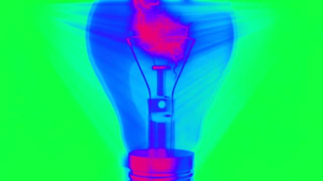 Glühbirne Animation mit elektrischer Entlastung