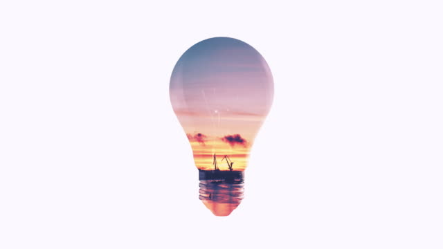 Lightbulb Double Exposure